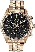 Citizen Men's Perpetual Calendar Chronograph Quartz Watch with Stainless Steel Strap, Rose Gold, 22 (Model: BL5563-58E)
