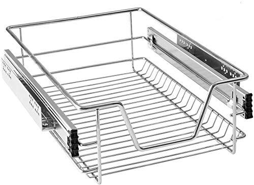 MCTECH Cajón de cocina telescópico, armario extraíble de dormitorio, 40 cm