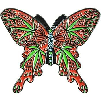 """Pride Jewelry Marijuana Butterfly - 1.5"""" Enamel Pin"""