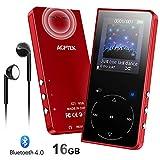 AGPTEK MP3 Bluetooth 16Go Haut-Parleur Sport, Boutons Tactiles Lecteur Musical en...