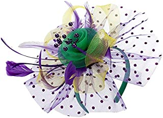 Flower Cocktail Tea Party Fascinators Feather Headwear Top Hats Wedding Headband for Women