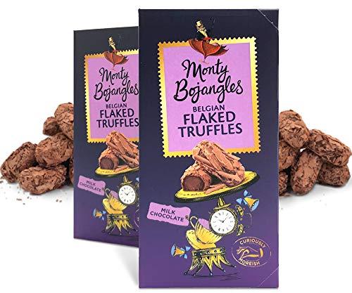Monty Bojangles Belgische Milch Schokolade Luxus Flaked Trüffel, 2 x 100g Geschenk-Boxen