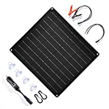 TP-solar 20 Watt 12 Volt Solar Trickle Charger 20W 12V Solar Panel Car Battery Charger Portable Solar Battery Maintainer...