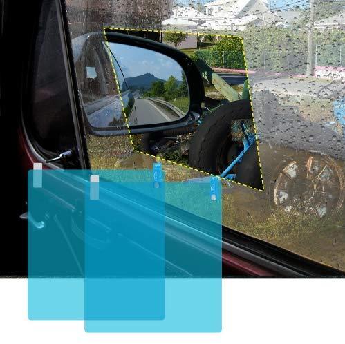 PoeHXtyy 2 STÜCKE Auto Seitenansicht Spiegel Blendschutzfolie Spiegel HD Nano Blendschutz Anti Fog Regen wasserdichte Membran