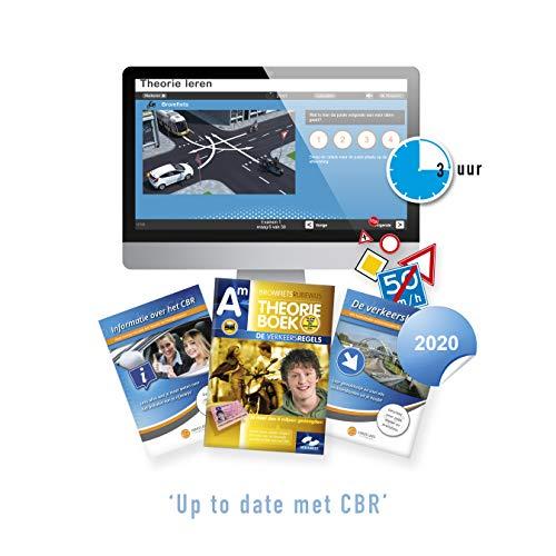 Scooter Theorieboek Nederland 2020 - Theorie Boek Bromfiets Rijbewijs AM met 3 Uur Online Examentraining + CBR Informatie en Verkeersborden