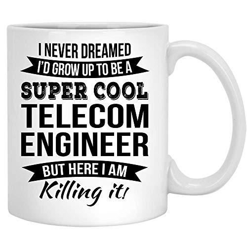 Super Cool Ingeniero de telecomunicaciones Taza de café Regalo de agr