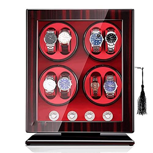 MRTYU-UY Caja giratoria de Soporte de enrollador de Reloj 8 0 Relojes automáticos Pantalla de Madera Leahter Winding Caja de Reloj Shaker