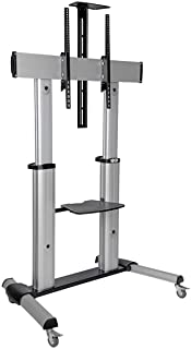 """New! Tripp Lite Mobile TV Stand with Mount, for LED/OLED/LCD Flat Screen Monitors, 60"""" – 100"""" Televisions, Shelf & Locking Wheels (DMCS60100XX)"""
