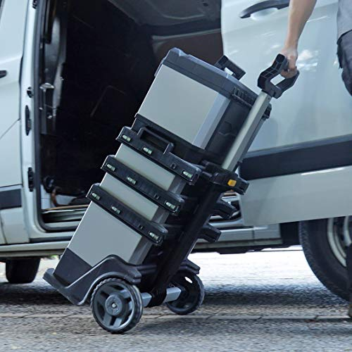 Stanley FatMax Rollende Werkstatt aus Metall-Kunststoff 1-95-622 – Werkzeugwagen leer – Vielseitige Werkzeugbox für Kleinteile und große Werkzeuge - 8