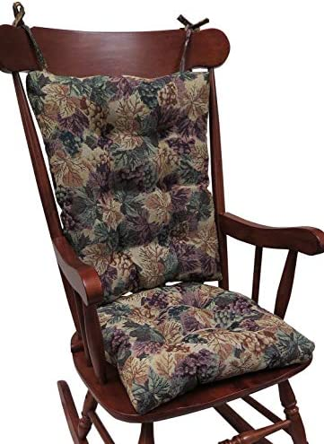 Best Klear Vu The Gripper Non-Slip Cabernet Tapestry Jumbo Rocking Chair Cushions