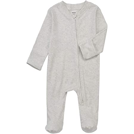 Baby Kids Footed Sleeper Pajamas with Mitten Cuffs Cotton Long Sleeve Snap-Up Toddler Onesies Sleep and Play for 0-12 Month