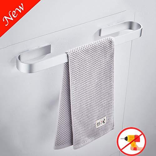 Sonrisa Toallero de Barra Baño Adhesivo, Aluminio Toalleros con Autoadhesivo sin Taladro, Toalleros para Baño y Cocina 30|40|50|60cm30cm