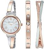 Anne Klein Women's AK-2245RTST Rose-Gold Stainless-Steel Japanese Quartz Fashion Watch