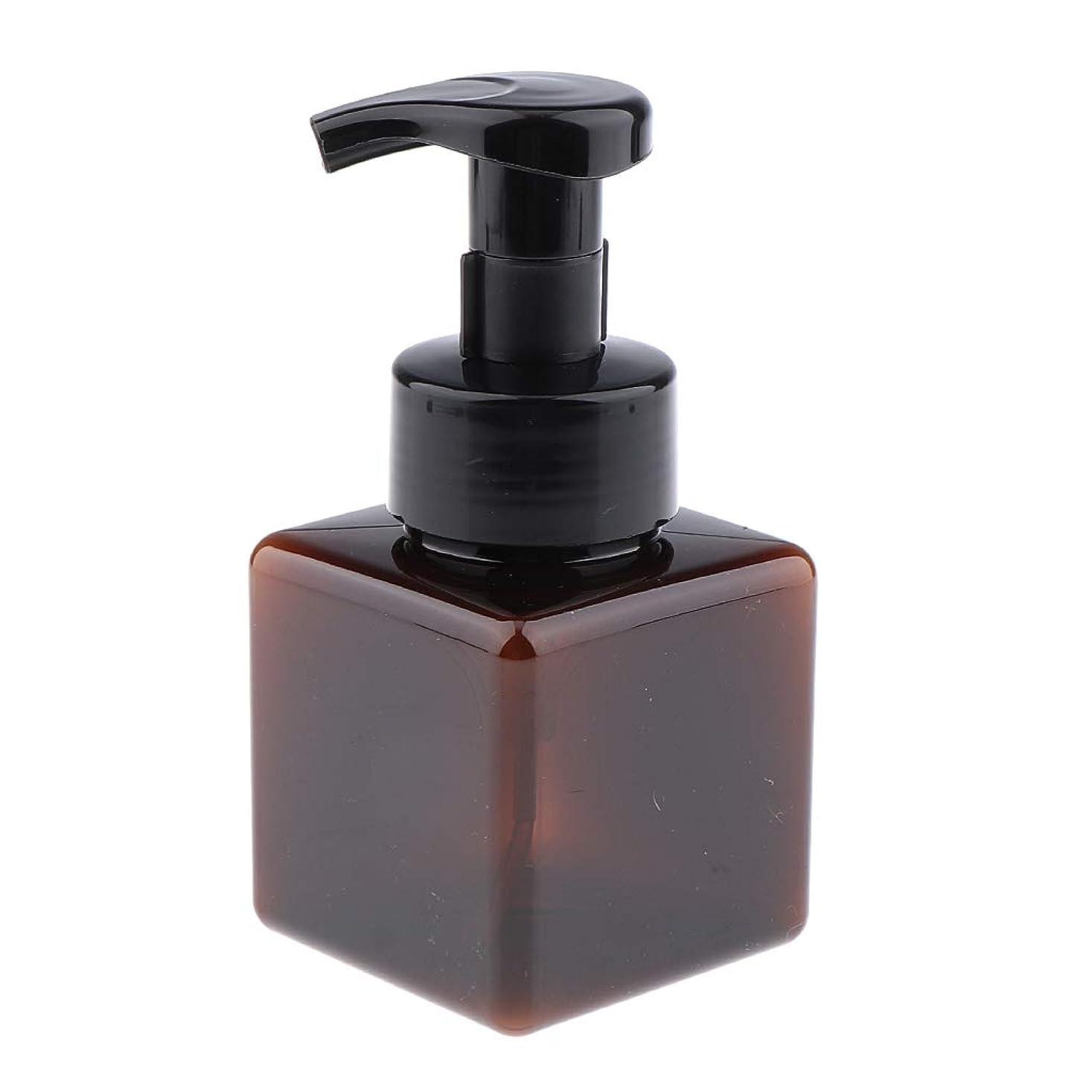ビンモンクドレスIPOTCH フォームディスペンサー ポンプボトル フェイシャル コンテナ 250ml 高品質 6色選べ - ダークブラウン