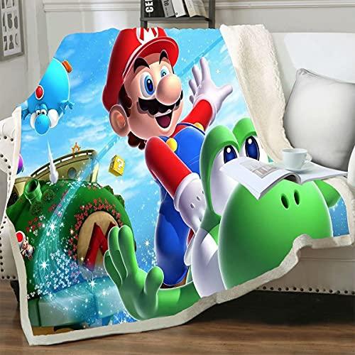 Decke Super Mario Mario Coral Fleece Decke Fleece Decke Four Seasons Decke