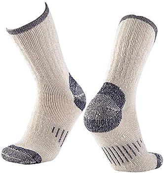 Nevsnev Merino Wool Athletic Crew Warm Men's Socks