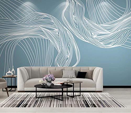Papel Pintado Pared 3D Arte Minimalista De Líneas Abstractas Moderno Dormitorio Salon Decoracion murales