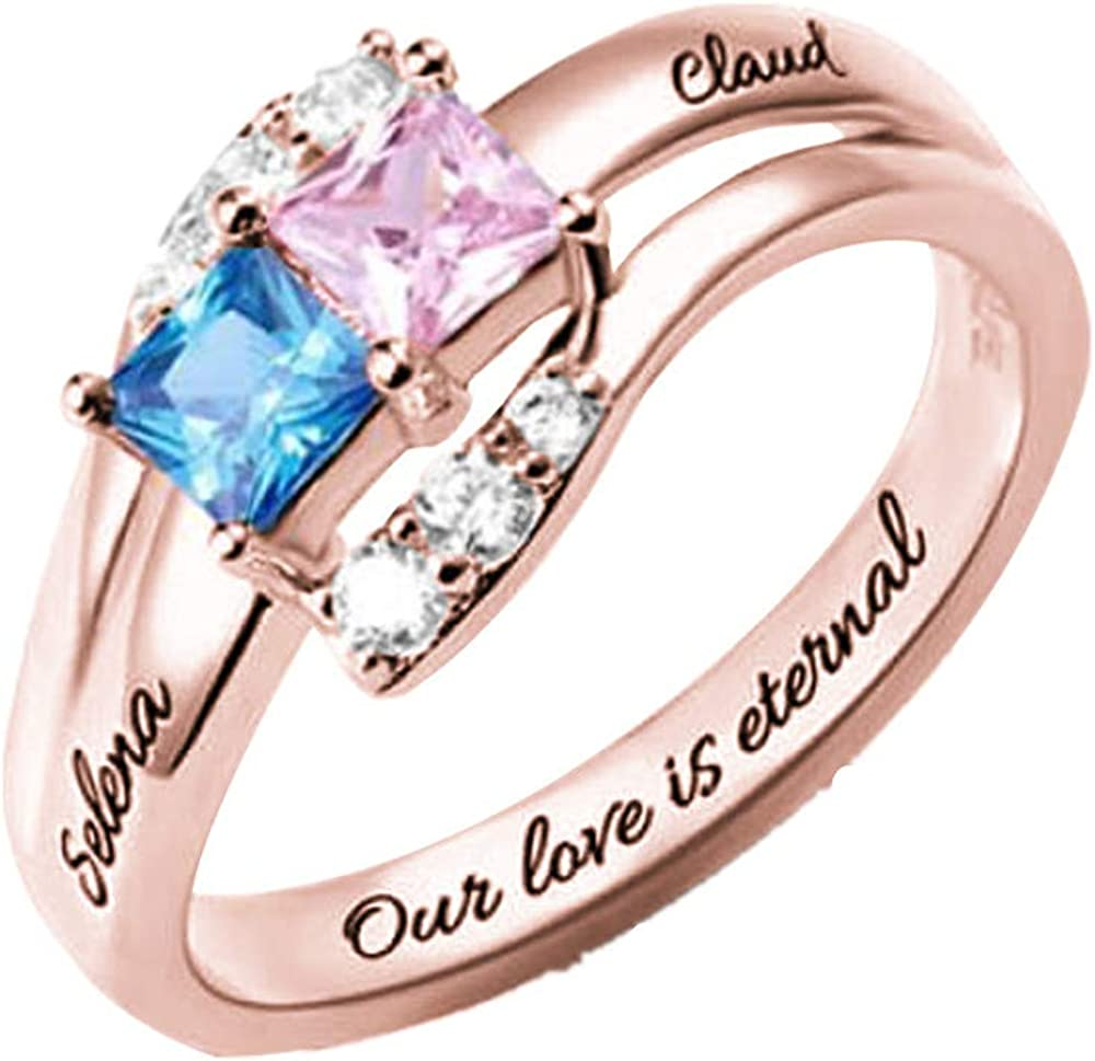 Birthstone Ring Personalized Rings Promise Rings for Her Custom