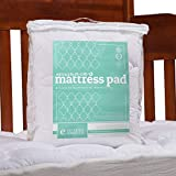 ExceptionalSheets Toddler/Crib Mattress Pad - Water Resistant Fitted Mattress Topper Perfect for Small Children/Infants - 27.5' x 52' - 2 Styles Available