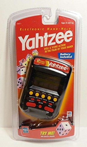MB YAHTZEE Electronic Handheld Game Black Original Edition ( 1999 Editio/New)