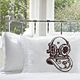 Royalkane Brown Deep Sea Diver Nautical Pillowcase (1 Case)