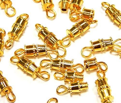 20Stk Schraubverschluss Metallverschluss Schmuckverschluss