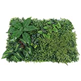 ROMYIX 12 Pieces Artificial Plants Wall,Artificial Boxwood Hedge Panel, Greenery Ivy Leaf Fencing, Fake Leaf Screen Home Garden Outdoor Indoor Natural Screens Decoration 60 * 40 cm