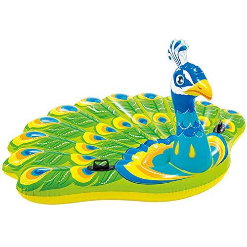 Steellwingsf Erwachsene Pfauenform PVC aufblasbar Sicherheit Wasser schwimmend Kissen Pad Spielzeug Mehrfarbig