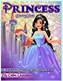 Princess Coloring Book - Large Print Mosaic Color By Number: Easy Color-By-Number for Kids ages 8-12, Teens, And Adults Who Love Princesses, -Includes ... 45 (Fun Adult Color by Number Coloring)