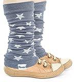 divata Stulpen für Babys & Kinder - Sterne - Kinderstulpen, Babystulpen, Beinlinge, Armlinge für Mädchen & Jungs. Öko Tex Zertifiziert, Grau, 0-8 Jahre