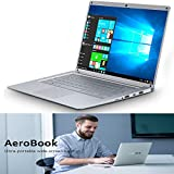 Novel TTT QWERTY Ordinateur Portable Windows 10, 14.1 Pouces FHD IPS Écran Résolution de 1920x1080 Pixels Intel HD Graphics Quad Core Intel 2Go RAM+32Go eMMC/500Go WIFI:5,0 GHz Argent