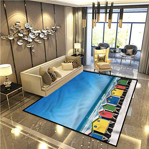 Travel Anti-Skid Area Rug Cape Town South Africa Marine Carpet for Trailer bunks 6.5 x 8 Ft