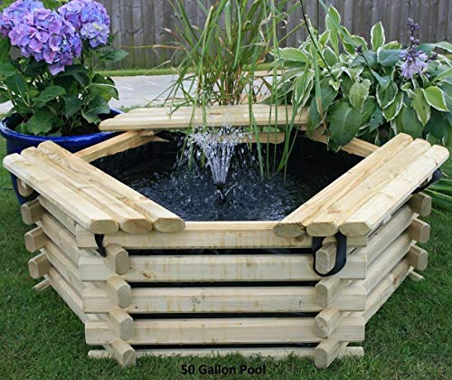 New Garden Pool 50 Gallon with Liner Fish Pond/Tank Outdoor...