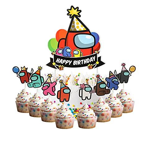 Among US Birthday Cake Topper