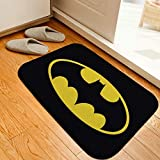 siqiwl Alfombra de baño Baño Mat Héroe Batman Impreso Alfombra Alfombra Alfombra Frannel Antideslizante baño Mat Absorbente baño Alfombra de Suelo Alfombra Personalizada