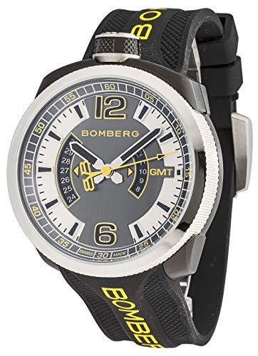 Bomberg Herren-Armbanduhr Bolt-68 GMT Datum Analog Quarz BS45GMTSP.027.3