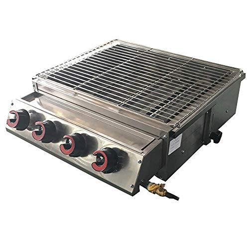 WJSW 4 Brenner Gas BBQ Grills Edelstahl LPG Grills Grillgerät Barbecue-Grill für Outdoor-Churrasqueira