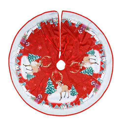 Falda para árbol de Navidad – Cubre pie árbol Navidad decoración de...