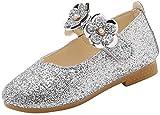 Zapatos de Princesa con Lentejuelas de Flores para Niños Zapatos de Vestir para Bebe Niñas Sandalias Casuales de Verano Zapatos de Fiesta Primeros Pasos Bautizo Vestir Boda Comunion Suela Blanda