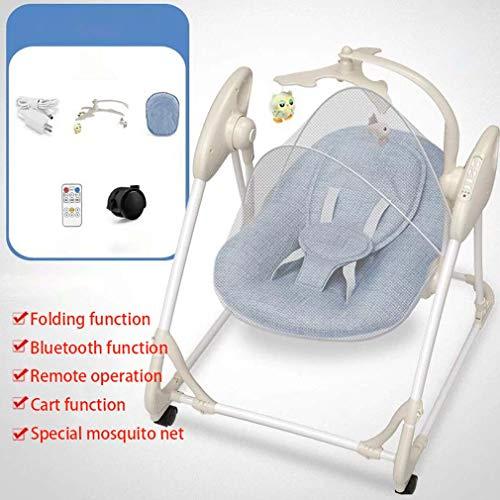 ZWQ kids Automatique à Bascule bébé Chaise, Chaise bébé Confort transat Berceau électrique, agitateur à Bascule Enfant Nouveau-né pour 0-2 bébé,C