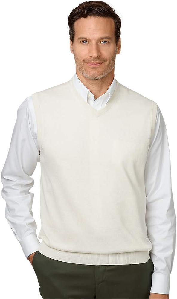 Paul Fredrick Men's Silk, Cotton and Cashmere Pullover Sweater Vest