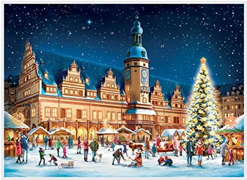 Richard Sellmer Verlag Adventskalender / Weihnachtskalender mit Bildern und Glimmer für Kinder und Erwachsene Leipzig