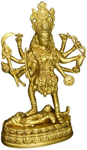 Shalinindia Kali Figur Messing Religiöse Statuen