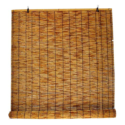 MY1MEY Persianas de caña de bambú, Estores de Bambú, Interiores y Exteriores Ventana Persianas, Ecological Sunshade Partition Curtain para Interiores/Exteriores,2pcs(110x220cm/43x87in)