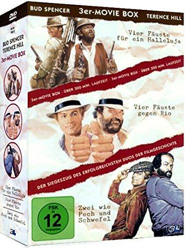 3er Movie Box BUD SPENCER & TERENCE HILL : Ver Fäuste für ein Halleluja + Vier Fäuste gegen Rio + Zwei wie Pech und Schwefel 3 DVD Box