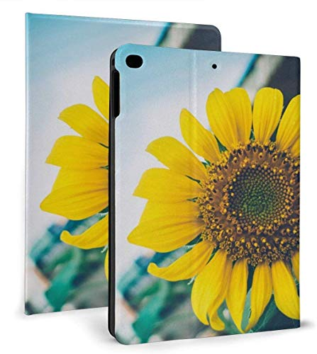 Sunflowers Flying in The Wind PU Leather Smart Case Auto Sleep/Wake Feature for iPad Air 1/2 9.7' Case