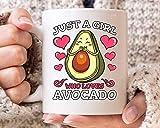 N\A Sólo una Chica Que ama la Taza de Aguacate, Aguacate Divertidos la Taza de café para los Veganos Vegetarianos, Idea Linda del Regalo para cetogénica Guacamole Aguacate