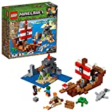 LEGO Minecraft The Pirate Ship Adventure 21152 Building Kit (386 Pieces)