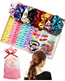 Hair Accessories for Girl Woman Variety Pack Hair Scrunchies Hair Bands Scrunchy Hair Ties Assorted Colors Scrunchies Christmas Gifts for Women Teenage Girls