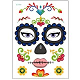 C-FUN Halloween Cosplay Impermeabile Temporaneo Cranio Face Tattoo Sticker Trucco Vestito ...